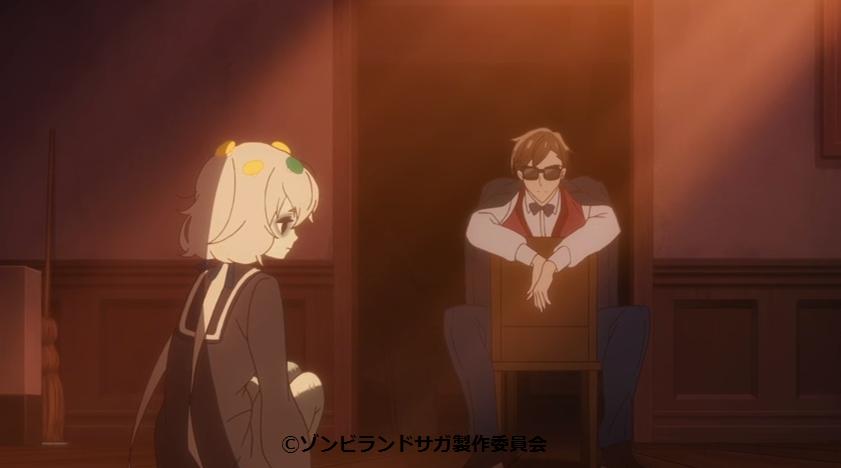 純子に現在のアイドルを説明する幸太郎(ゾンビランドサガ7話)
