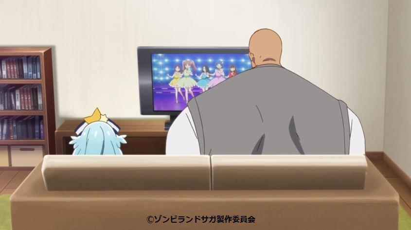 テレビを見るリリィとパピー(8話)