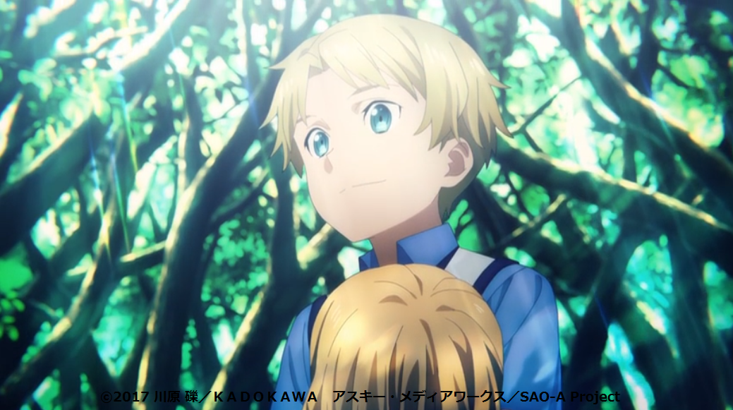 SAO アリシゼーションWoU 4話 アリシアを殺害して魂を確認したガブリエル(幼少期)